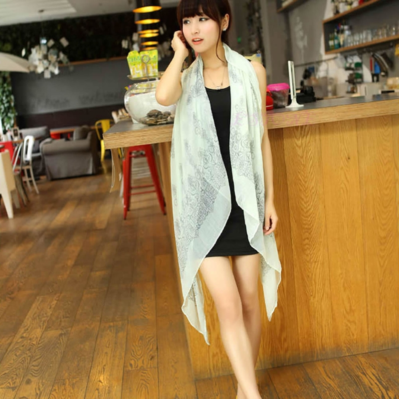 Vintage Women Fashion Pretty Long Soft Chiffon   Scarf     Wrap   Shawl Stole   Scarves