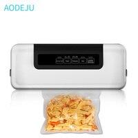 AODEJU Vacuum Food Sealer Packaging Machine Food Sealer Household Appliances Vacuum Packer 220V/110V For Food saver