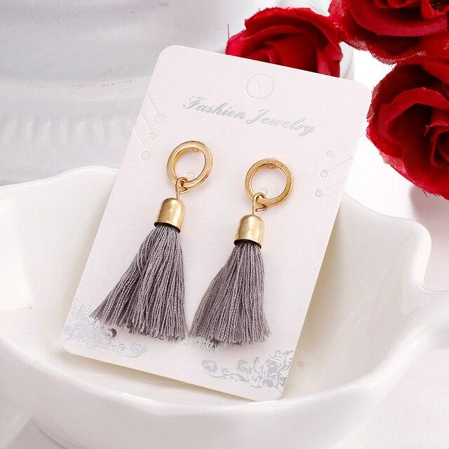 3 Colors Fiber Long Tassel Earrings Fashion Jewelry 2018 Bohemian Pendantes Femm