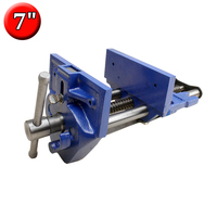 7 Inch Rapid Acting Wood Working Vise Heavy Duty Quick Release Cast Iron Workbench Vice 7 x 8 Jaw Width