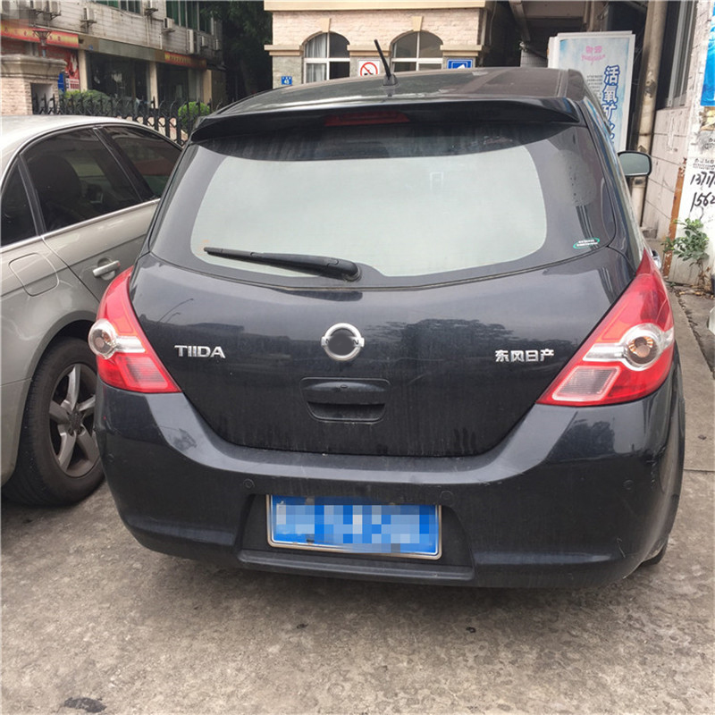 Car accessories Car Rear Wing Rear Spoiler For Nissan Tiida Spoiler 2005 2010 For Nissan Tiida Spoiler High Quality ABS Material