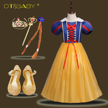 Baby Girls Cinderella Snow White Princess Dress Beautiful Girl New Year Prom Evening Dresses Fantasia Long