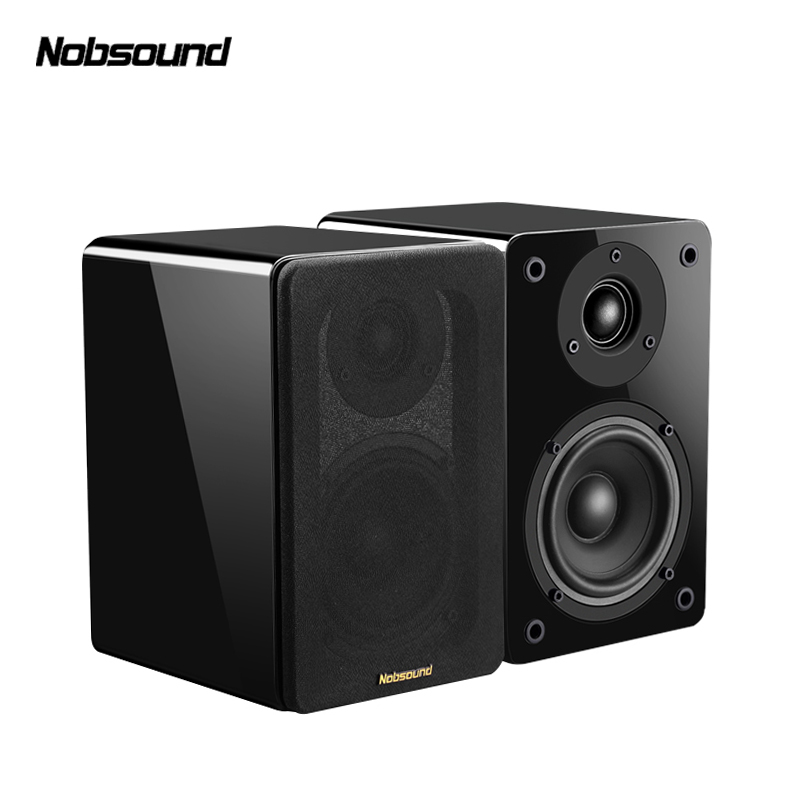 Nobsound NS 1800 Wood 60W 1 Pair 4 inches Woofer Bookshelf Speakers 2 0 HiFi Column