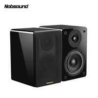 Nobsound NS 1800 Wood 60W 1 Pair 4 inches Woofer Bookshelf Speakers 2.0 HiFi Column Sound Home Professional speaker