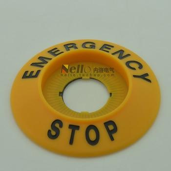 [SA]Korea Kaikun KACON 22mm emergency stop switch warning signs HP117A signage outside diameter 70mm--20pcs/lot