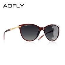 1a941473a AOFLY DESIGN DA MARCA Gato Olho Óculos Polarizados Óculos de Sol Mulheres  Polarizada Óculos de Sol Gradiente Feminino Shades Ocu.