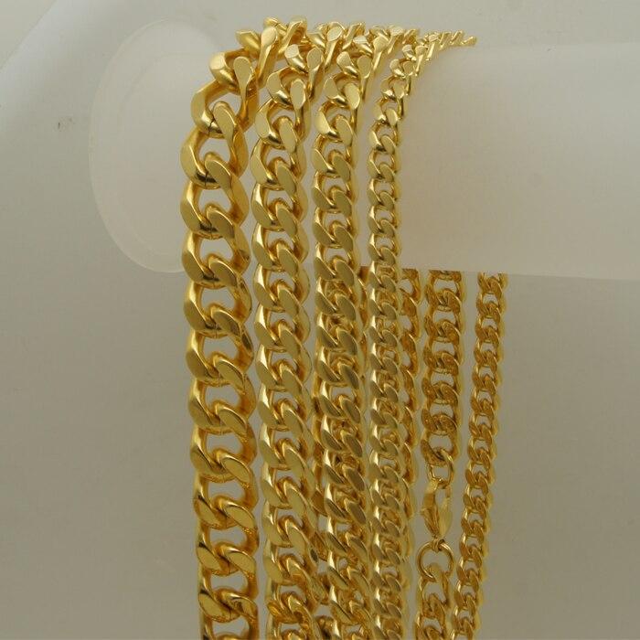 11 мм ширина 149 г классический Curb Link IPG позолота мужчин/мальчик 316L Нержавеющая сталь ожерелье 1 шт.