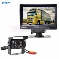 CCD Rear View Car Camera 7 Inch HD TFT LCD Car Monitor Display Reverse Rear View