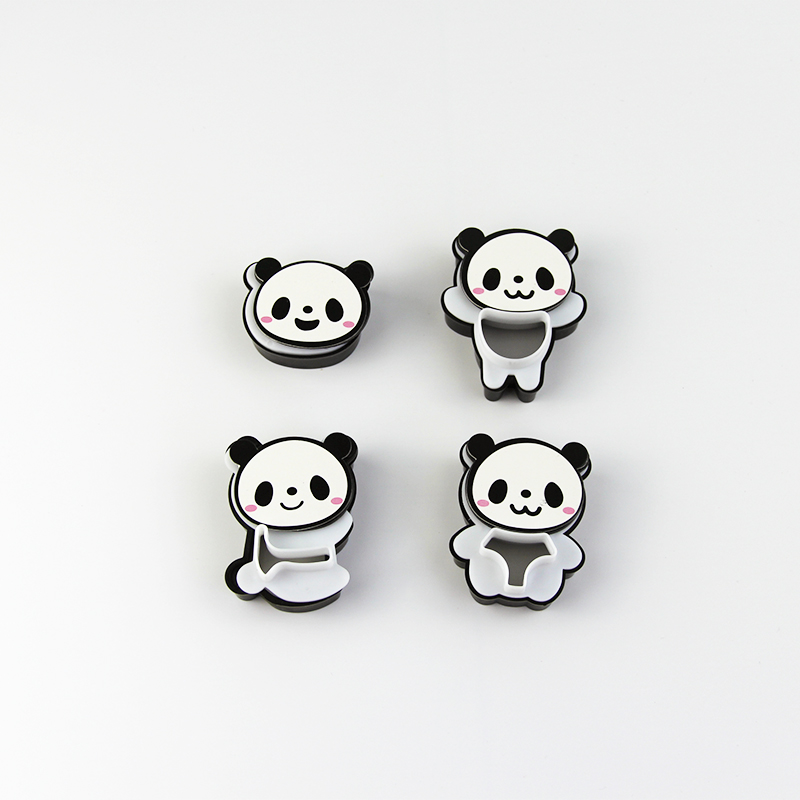 Cookie Cut 3D  Panda Plastic Cookie Mould DIY Cartoon Cookie Tool  Biscuit Cake Rice Ball Mold Plastic Curved Cookie Mold