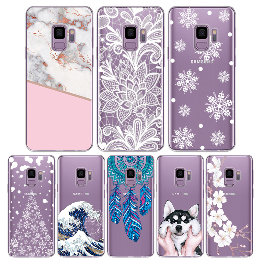 Painting TPU <font><b>Case</b></font> for <font><b>Samsung</b></font> Galaxy S9 S9 Plus Silicone <font><b>Phone</b></font> Cover for <font><b>Samsung</b></font> <font><b>S7</b></font> Edge S8 S8 Plus S10 Transparent Fundas Bag image