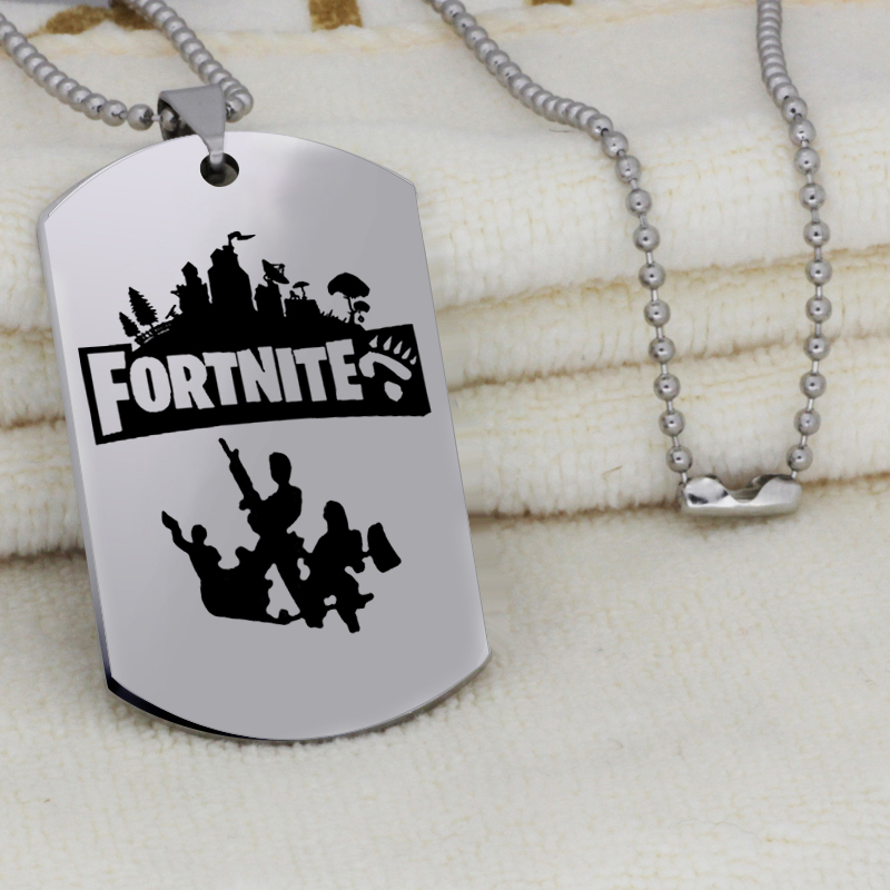FPS Game Axe pendant Fortnite pick pendant stainless steel jewelry necklace Customed words or name necklace N445