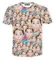 New Homens/mulheres marca t-shirt camiseta 3d impressão famosa estrela Miley Cyrus comendo Sorvete t-shirt moda verão topos