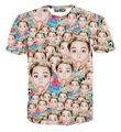 New Men/women brand t-shirt 3d t shirt print famous star Miley Cyrus eating Ice Cream t-shirt fashion summer tops