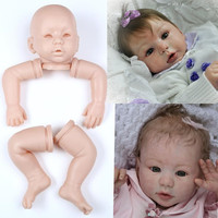 silicone reborn baby dolls girls boys unisex dolls kit accessories DIY toys for girl NPKCOLLECTION wholesale free shipping gifts