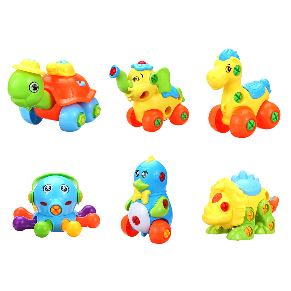 Kids Puzzle Assembly Toys DIY Creative Disassembly Assembled Animal Toy Children Cartoon Plastic Model Learning Educational Toys