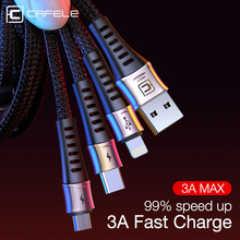 Cafele Mobile Phone USB Cable for iPhone 7 6S Max 3A Fast Charge Cable USB Type C Micro 130CM Data Cable for Samsung Xiaomi