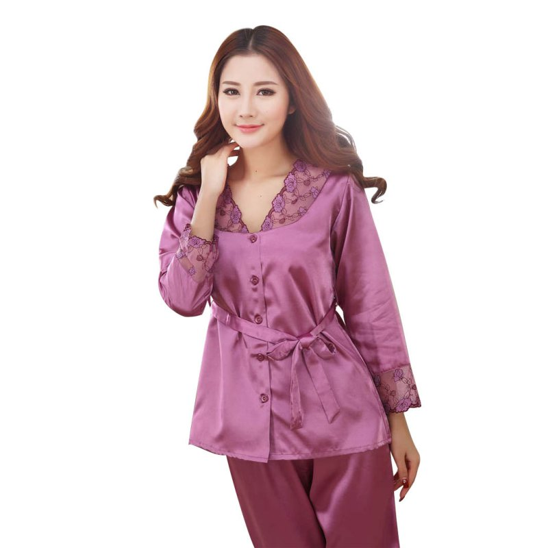 Cosy Fashion Women Silk   Pajamas     Sets   of Sleepswear Sleep Shorts Lady Nightdress Female Home Clothes