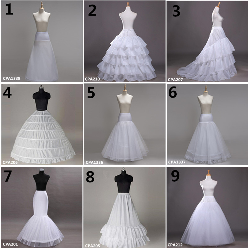 White Wedding Petticoat White Crinoline Tulle Dress For Bridal Underskirt Mermaid Petticoat Girl Jupon Mariage