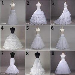 Белый свадебный подъюбник белый кринолин тюль платье для невесты Нижняя юбка Русалка нижняя юбка для девочек Jupon Mariage