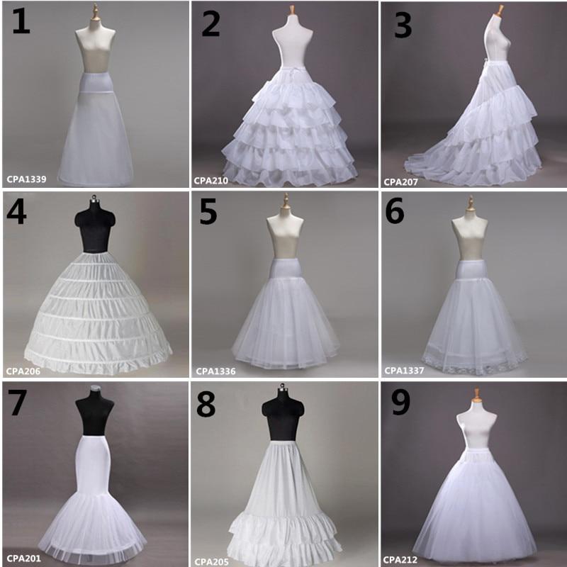 White Wedding Petticoat White Crinoline Tulle Dress For Bridal Underskirt Mermaid Petticoat Girl Jupon Mariage