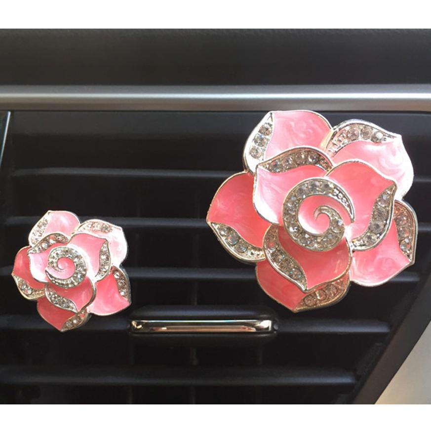 2018 Hot selling New 2Pcs Car multiflora Flower Air Outlet Fragrant Perfume Clip Air Freshener Diffuser Car styling Nice