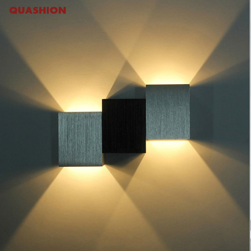 aluminum modern wall sconce ladder shaped 4w cool white led wall light decoration home lighting ac85 265v wall mounted wall lamp