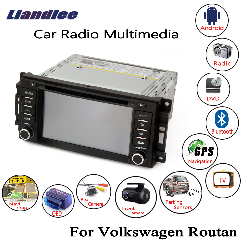2019 2009 2014 Audi Vw Media In Ami Mdi To Stereo 3 5mm: Liandlee For Volkswagen VW Routan 2009~2014 Android Car
