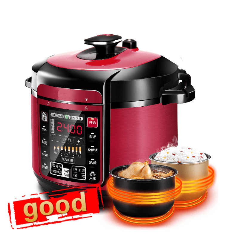 Electric Pressure Cookers pressure cooker double bravery 5L intelligent household electric rice cooker.