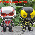 New FUNKO POP ANT-MAN No.85 Yellow Jacket NO.66 ant man Vinly Bobble-head PVC Action Figure Collectible Model Toy for Children