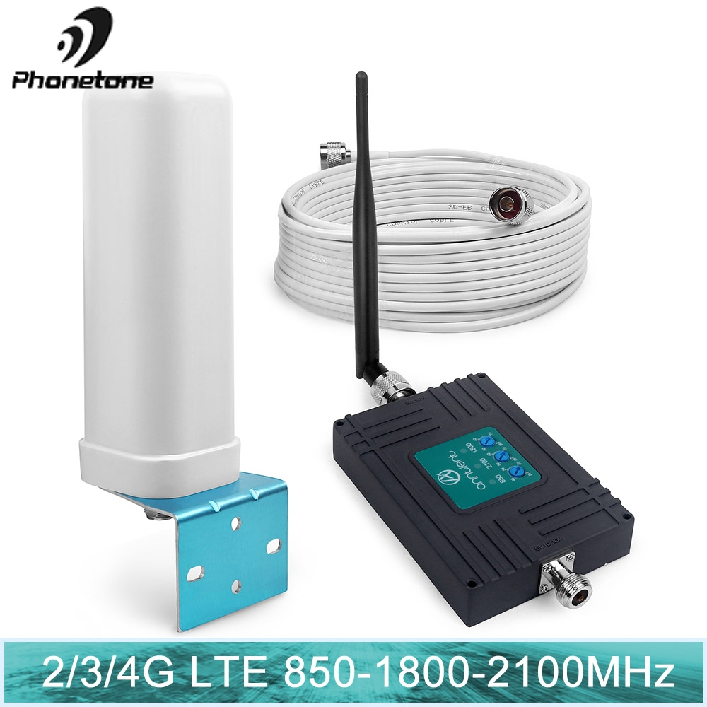 Signal Repeater Cell Phone Repeater 850 Mhz Cellular Signal Booster 1800 UMTS Mobile 3G 2100MHz 4g 70dB LTE Amplifier 850mhz Set
