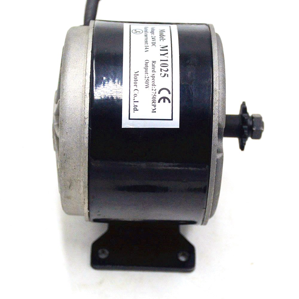 24V 250W Brush Motor MY1025 High speed Brush Gear Decelerating Motor for Electric Bicycle Bike electrice