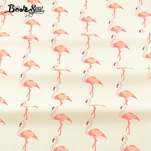 Booksew Cotton Twill Fabric Pillow Craft Patchwork Red-crowned Animal Patterns Quilting Home Textile Sewing Cloth Fat Quarter CM(China)