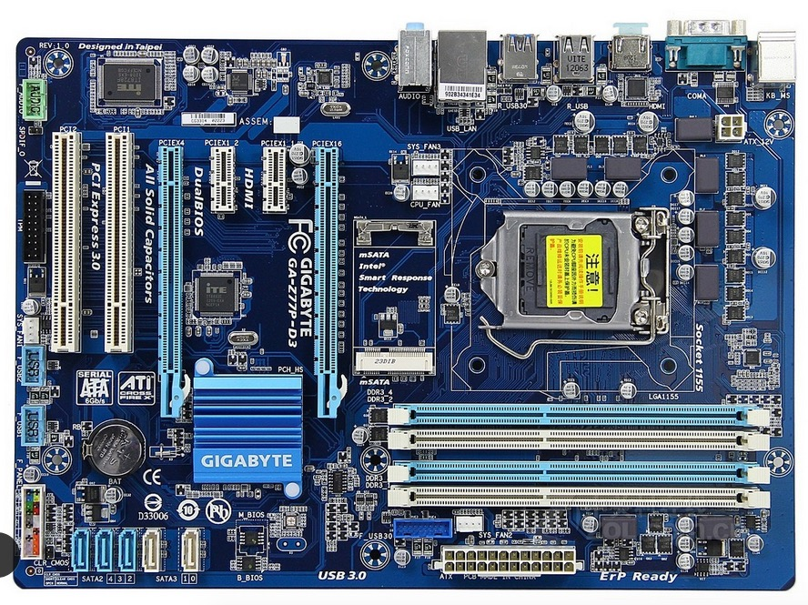 motherboard Gigabyte GA-Z77P-D3 LGA 1155 DDR3 Z77P-D3 boards HDMI USB2.0 USB3.0 32GB Z77 desktop motherboard free shipping(China)