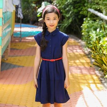 Teen Girls Summer Dress Hepburn Style Elegant Dress for Toddler Girl Teenage Girl Students School Dress Size 8 10 12 14 years girl