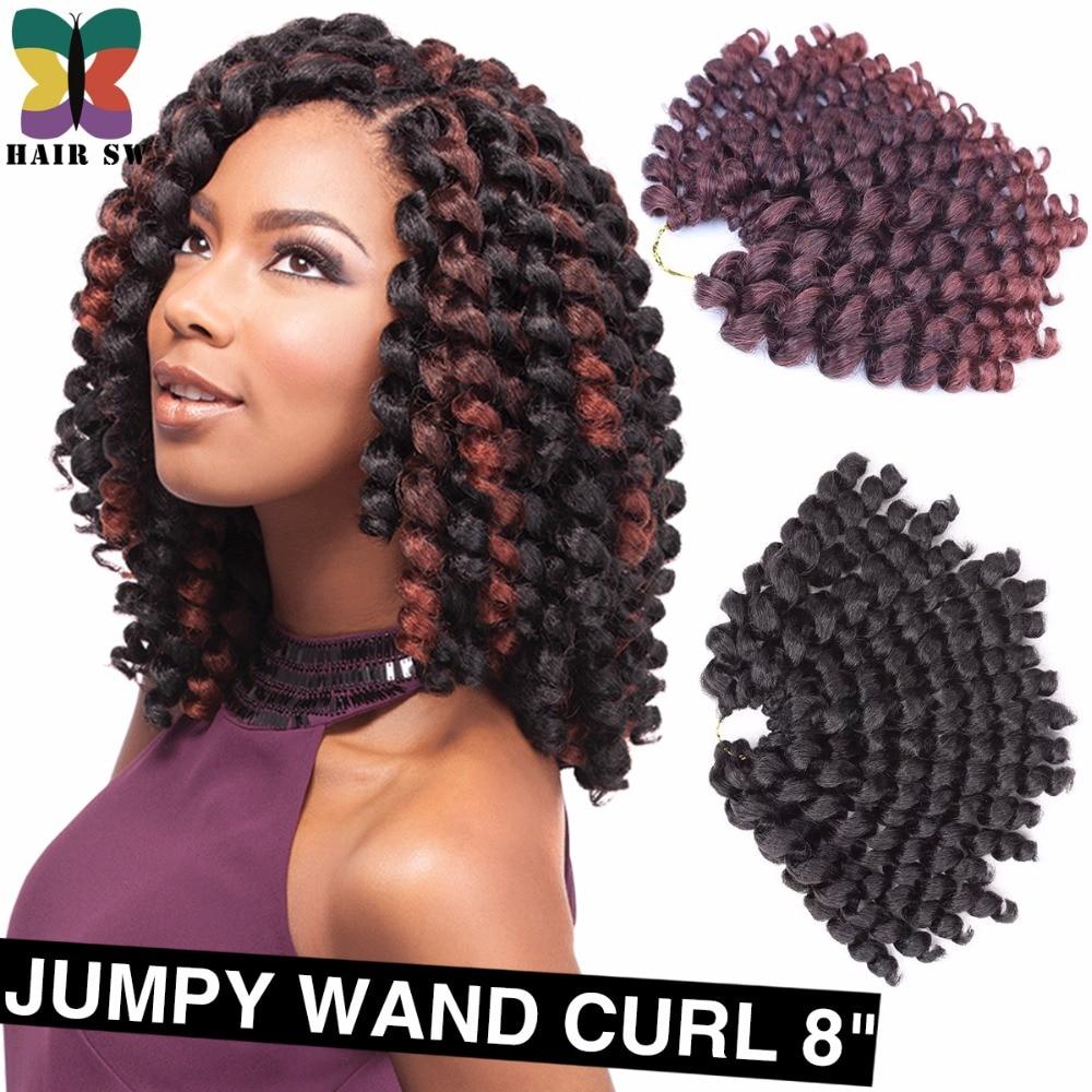 Crochet Braid Fluffy Wand Curl Jumpy Jamaican Bounce Twist