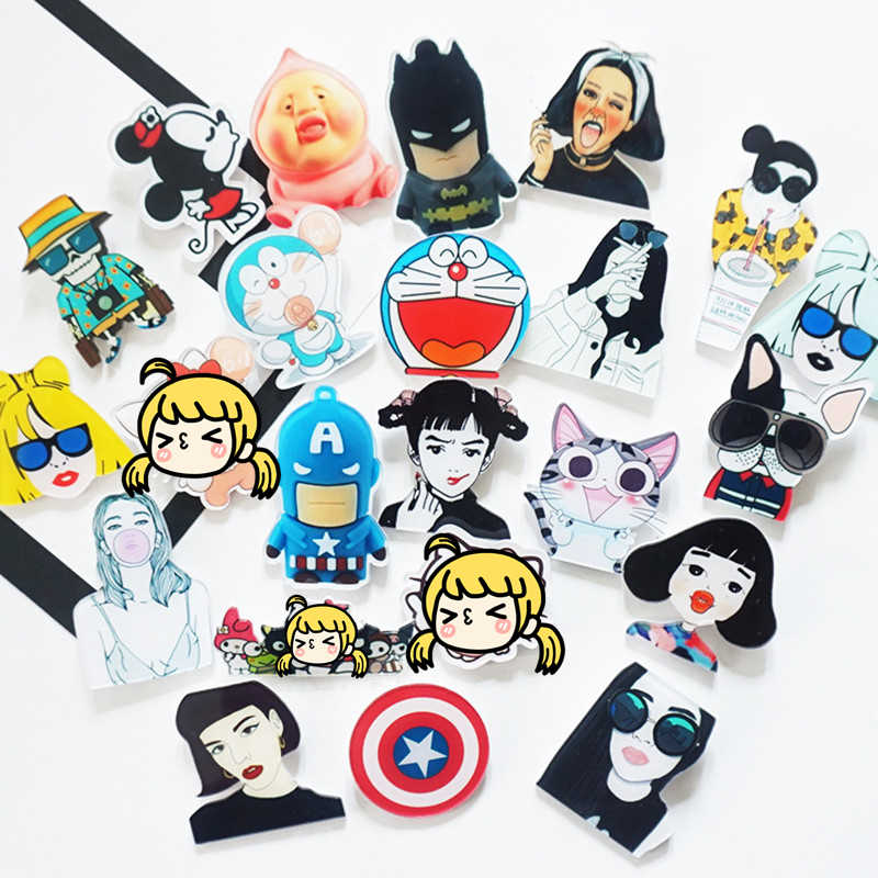 1Pcs Cartoon Harajuku Cool Girls Brooch Acrylic Badges Icons on The Backpack Pin Badge Decoration Badges Clothing For Women