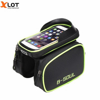 Waterproof BICYCLE Phone Bag Touch Screen Cycling For 6 2inch Cell Phone Double Pouch Cycling Bag