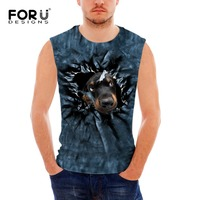 FORUDESIGNS 2017 Men Boy Body Layer Sleeveless 3d Summer Vest Thermal Under Top Tees Tank Tops