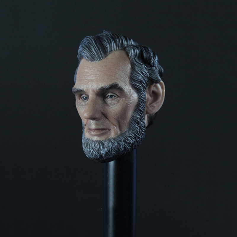 1/6 Scale Male Head Sculpt America president Abraham Lincoln Head Models Carved for 12 Action figures Bodies