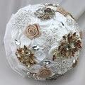 Высшего Качества ручной работы Роскошная Брошь Невесты Свадебное Свадебный Букет Невесты Горничная Европа Красный Шар Кристалл Искусственный Цветок Sp8566s