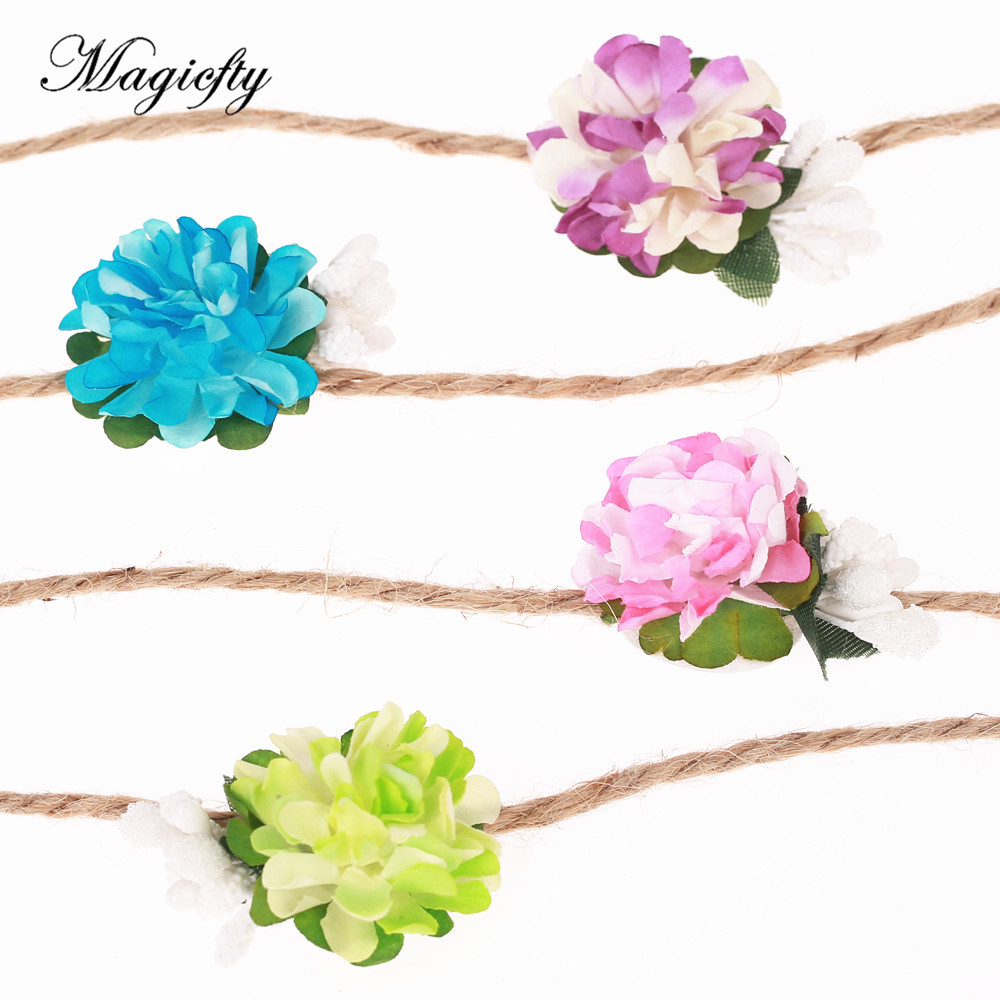 Kids tieback flower crown headband diy handmade flower hairband kids tieback flower crown headband diy handmade flower hairband newborn photo prop bridal hair accessories in hair accessories from mother kids on izmirmasajfo