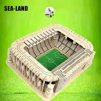 Diy Montessori Education Kids Toys Wooden 3D Puzzle For Children Madrid Football Stadium Challenge Wisdom A Hobby Gift For Adult
