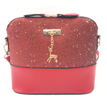 2018 Women Shoulder Bags Fashion Mini Bag With Deer Toy Shell Shape Women Small  Messenger Crossbody Bag Ladies Zipper HandBags