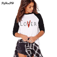 PyHenPH 2018 Spring Autumn Lover And Loser Printed Long Sleeve T Shirt Lady Lover Or Loser