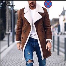 Men Waterproof Windproof Winter Jacket Men's Wool Warm Winter Trench Long Outwear Button Smart Overcoat Coats цены онлайн