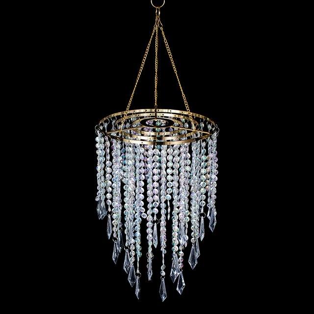 Brand Chandelier European Lighting Metal Gold Plated Fashion Lamp Acrylic Beads AC Wedding Decoration Indoor lights