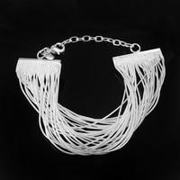 YHAMNI Merk Luxe 100% 925 Sterling Zilver Charm Kwastje Armbanden Voor Vrouwen YB023