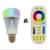 Nova 8 W Lâmpada LED Mi Luz Lâmpada de Luz Dimmable E27 RGB Spotlight Interior Decoração + 2.4G Controle Remoto Sem Fio RF CCT controle
