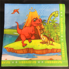 20pcs 33*33cm New Dinosaur theme Paper Napkin Tissue for kids birthday party decoration