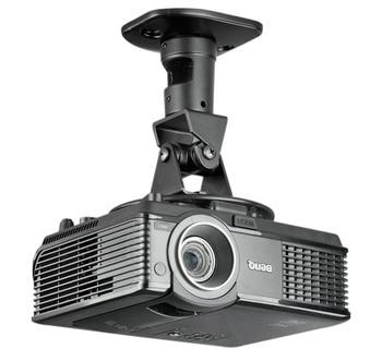 BL-PR01 de aleación de aluminio de 360 grado Universal soporte con escuadras de proyector de techo de montaje en pared blanco negro